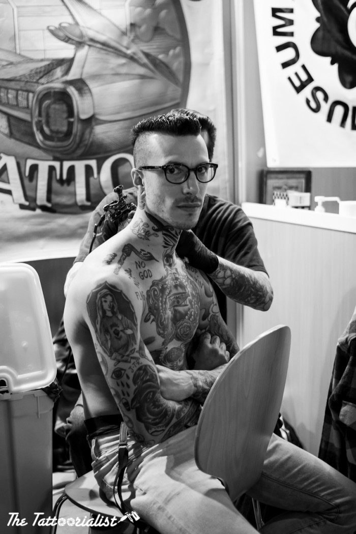 Eric Perfect from Kadillac Tattoo Deuce Mondial du Tatouage Paris 2013 ©thetattoorialist